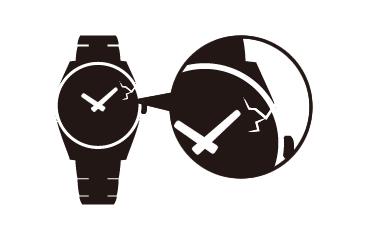 【時計】打痕や擦り傷がある