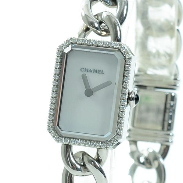 CHANEL(シャネル) プルミエール ホワイト 16×22mm ダイヤベゼル H3253 買取
