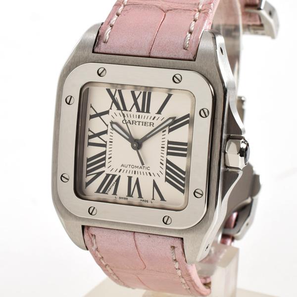 Cartier(カルティエ) サントス 100 MM シルバー SS/革 W20126X8 買取