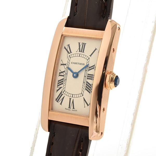 Cartier(カルティエ) タンク アメリカン SM シルバー PG/革 W2607456 買取