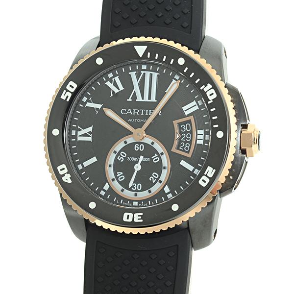 Cartier(カルティエ) カリブル ドゥ カルティエ ダイバー ブラック SS/DLC/PG/ラバー W2CA0004 買取