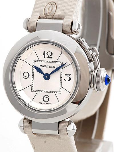 Cartier(カルティエ) ミスパシャ シルバー SS/トワルストラップ W3140025 買取