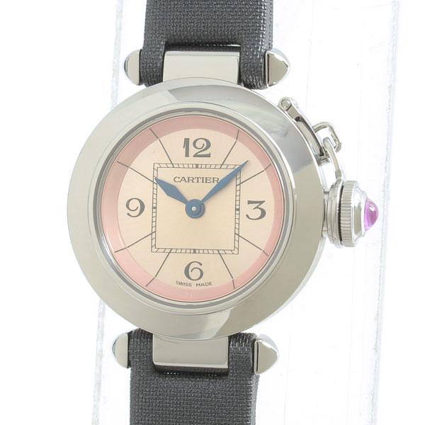 Cartier(カルティエ) ミスパシャ ピンク SS/トワルストラップ W3140026 買取