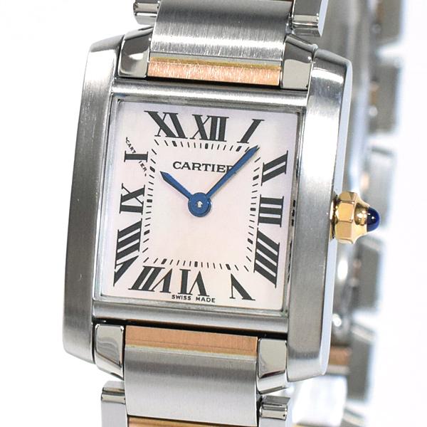 Cartier(カルティエ) タンク フランセーズ SM ピンクMOP SS/PG W51027Q4 買取