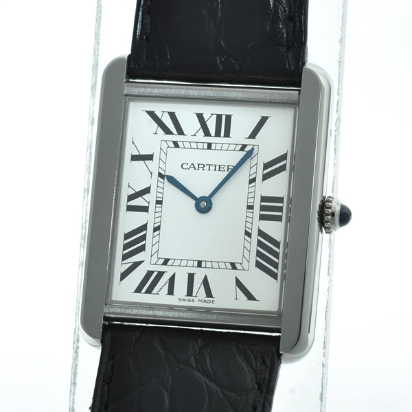 Cartier(カルティエ) タンク ソロ LM シルバー SS/革 W5200003 買取