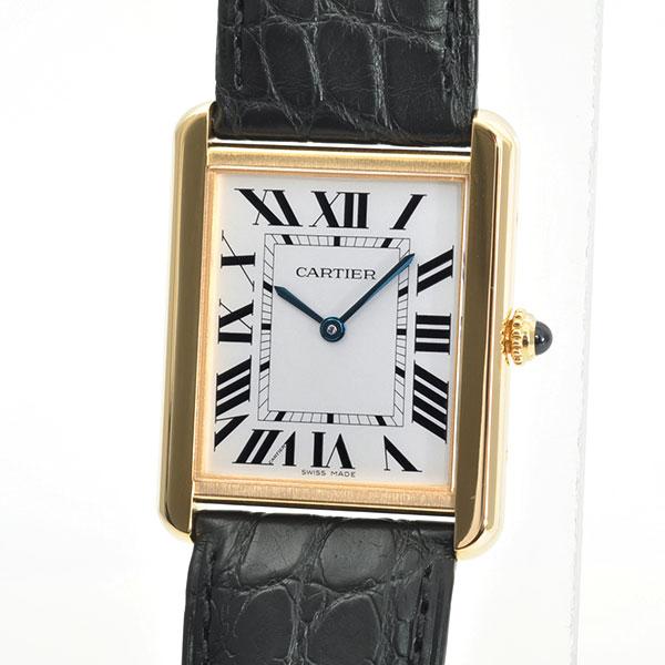 Cartier(カルティエ) タンク ソロ LM シルバー YG/革 W5200004 買取