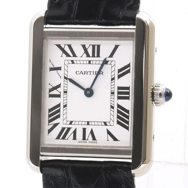 Cartier(カルティエ) タンク ソロ SM シルバー SS/革 W5200005 買取