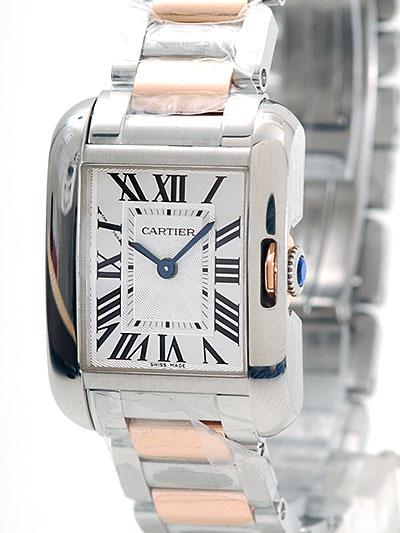 Cartier(カルティエ) タンク アングレーズ SM シルバー SS/PG W5310036 買取