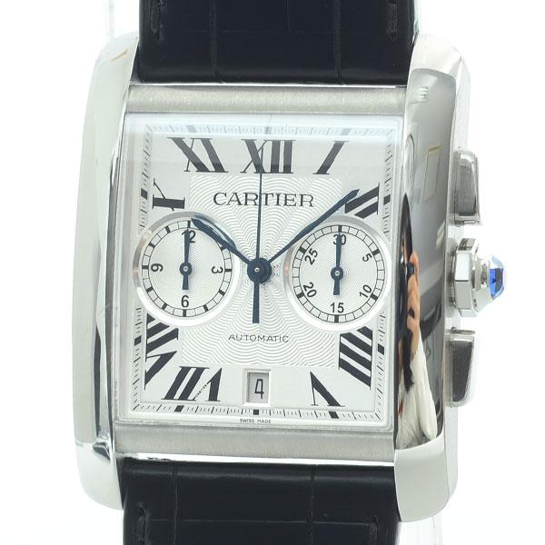 Cartier(カルティエ) タンク MC クロノグラフ シルバー SS/革 W5330007 買取