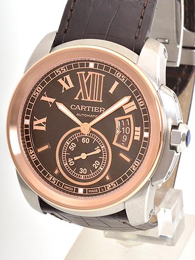 Cartier(カルティエ) カリブル ドゥ カルティエ ブラウン SS/PG/革 W7100051 買取