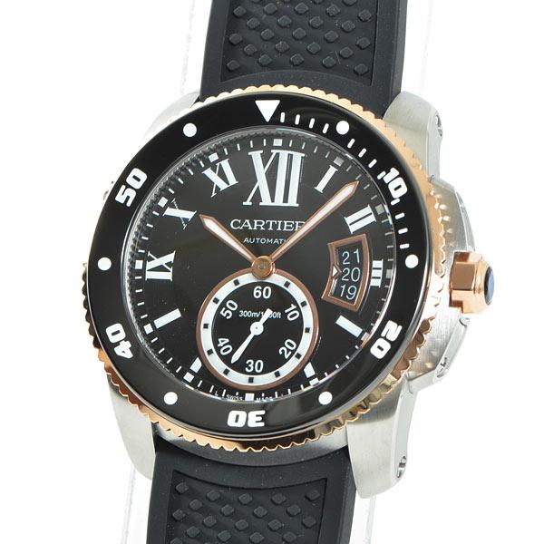 Cartier(カルティエ) カリブル ドゥ カルティエ ダイバー ブラック SS/PG/ラバー W7100055 買取