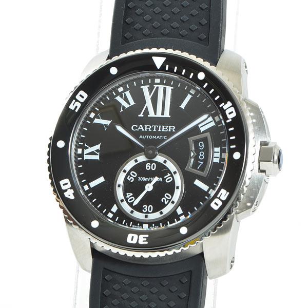 Cartier(カルティエ) カリブル ドゥ カルティエ ダイバー ブラック SS/ラバー W7100056 買取