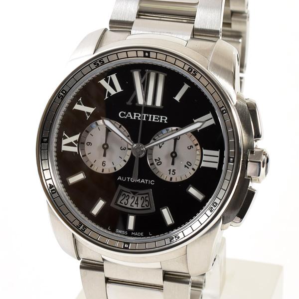 Cartier(カルティエ) カリブル ドゥ カルティエ クロノグラフ ブラック SS W7100061 買取