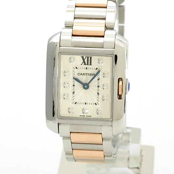 Cartier(カルティエ) タンク アングレーズ SM シルバー11Pダイヤ SS/PG WT100024 買取