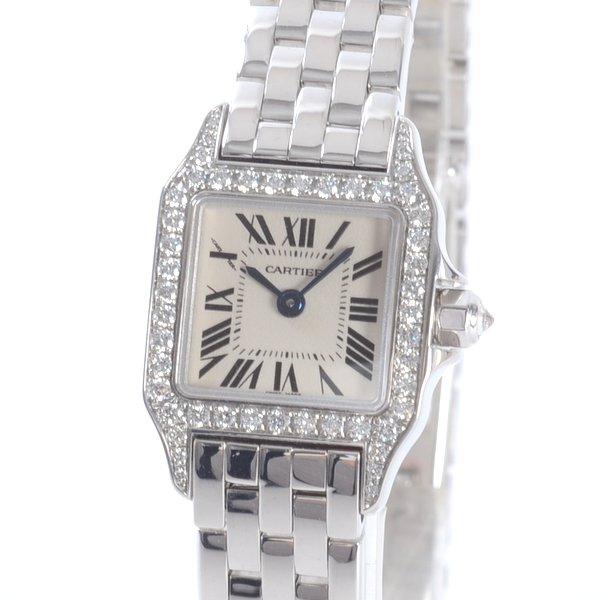 Cartier(カルティエ) ミニサントス ドゥモワゼル ベゼルダイヤ シルバー WG WF9005Y8 買取