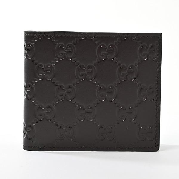 二つ折り式財布 ダークブラウン