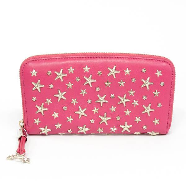 ラウンドファスナー式長財布 ピンク